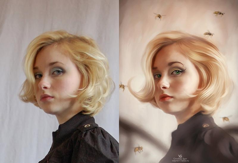Обработка фотографии под масло